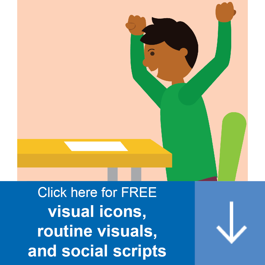 Our Home Supports offer a variety of resources including routine visuals, visual icons, and social scripts. Access them here!